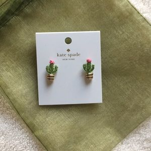 Brand New Kate Spade Cactus Earrings